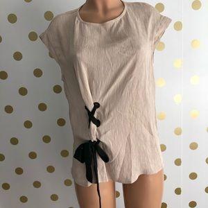 Zara basics top with side tie